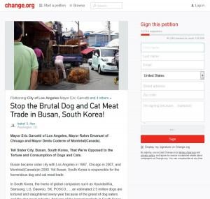 Busan's Sister City Petition Screenshot