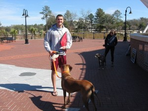 I think that this congenial student will be a good advocate as he wears a KoreanDogs.org hat and carries a KoreanDogs.org tote bag around the Florida State University campus.