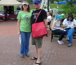 Sally was one of the main organizers of the VegFest. She and Mark helped us at the KoreanDogs.org event at the Mayday Parade concert in Tallahassee last October.
