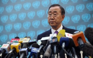 The United Nations Secretary General Ban Ki-Moon.