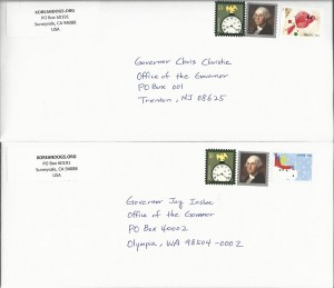 Letters to Governor of Washington and New Jersey_061915
