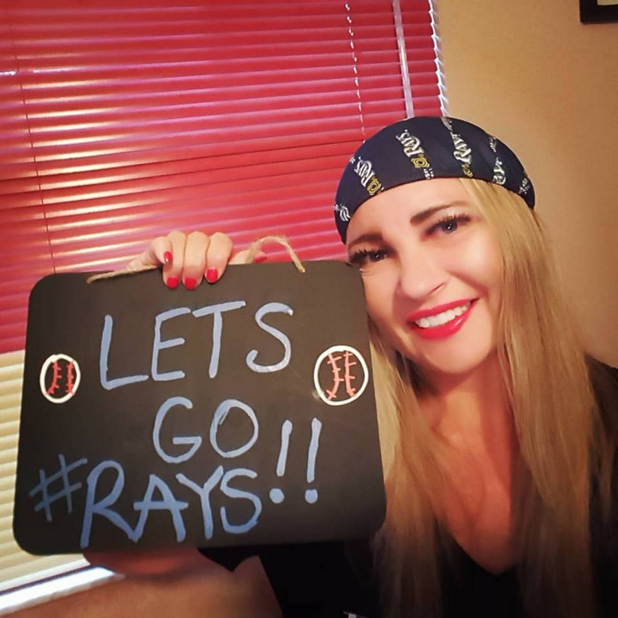 Our volunteer Amy Waz.  Let's Go #Rays!!
