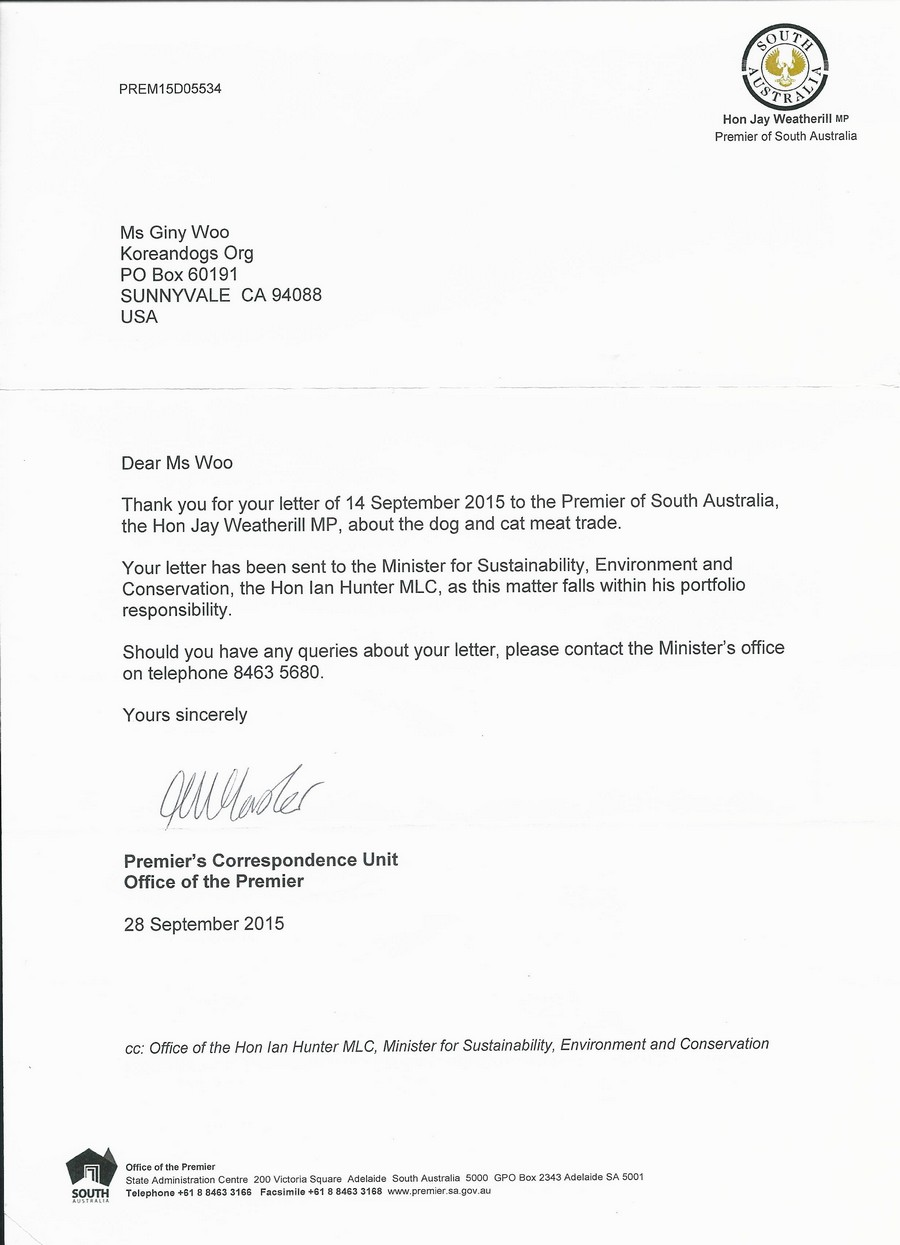 Correspondence from South Australia Premier_092815_2