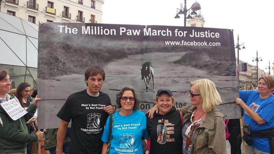 Madrid, Spain Million Paw March for Justice 100415