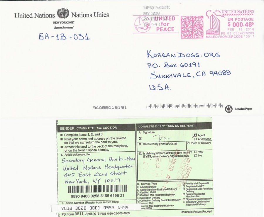 Response from UN HQ_021916_USPS tracking